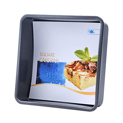 OJelay 6 Inch Square Cake Pan Diagonal 8 InchNonstick Bakeware Oven Baking Tray Carbon Steel Deep Dish Lasagna Pan