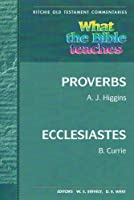 Wtbt Proverbs, Ecclesiastes (Ritchie Old Testament Commentaries)