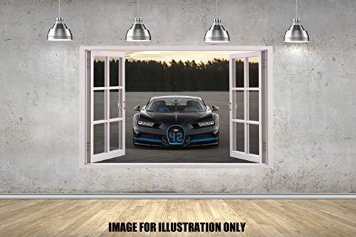 Customise4U New Super Auto Super Cars Fenster Hyper Cars Späht Kinder-Lieblings-Charaktere 70cm Wandtattoo, Vinyl, Motiv: Wandkunst, (Bugatti Chiron)