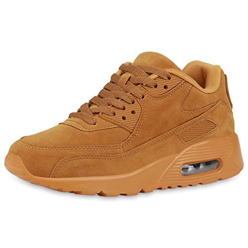SCARPE VITA Ladies Athletic Running Shoes Trainers Sneakers Leather-Look 815472 193502 Hellbraun Hellbraun 37