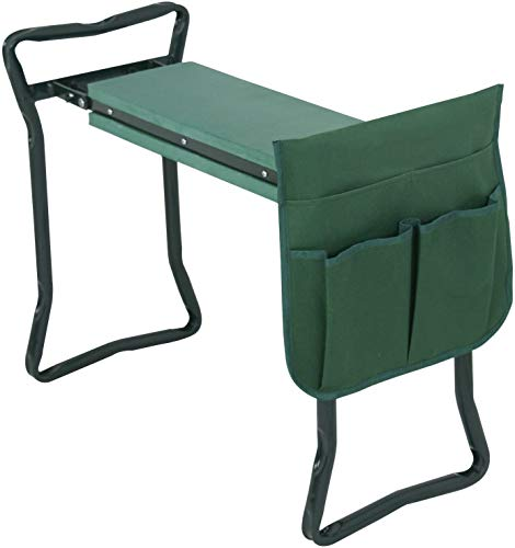SUPER DEAL Newest Folding Garden Kneeler and Seat with Free Tool Pouches - EVA Foam Pad Protects Your Knees - Sturdy and Lightweight