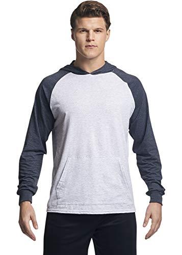 Russell Athletic Men's Lightweight Essential Cotton Hoodie, ash/Black Heather, Medium