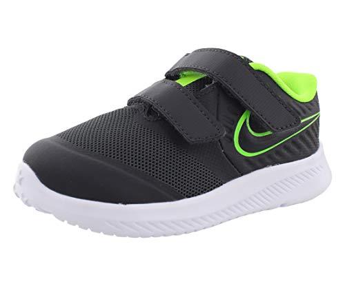 Nike Star Runner 2 (TDV), Sneaker Unisex Bimbo, Nero (Anthracite/Electric Green/White 004), 25 EU
