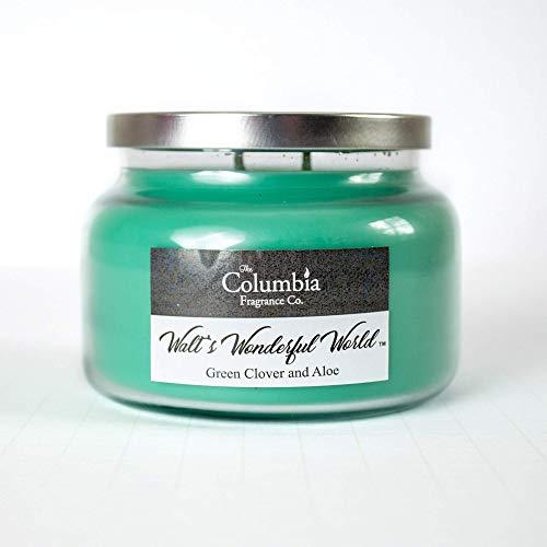 WALT'S WONDERFUL WORLD - Green Clover and Aloe candle, 10 oz