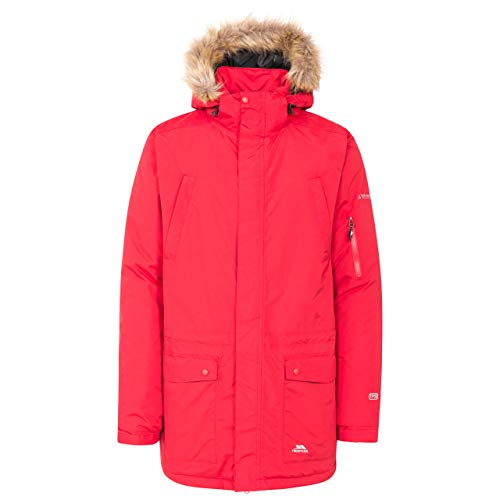 Trespass Jaydin Parka Homme, Rouge, FR : L (Taille Fabricant : L)