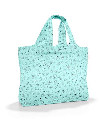 reisenthel mini maxi beachbag Strandtasche 62,5 x 42 x 13 cm / 40 l / cats and dogs mint
