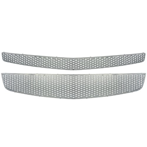 Bully GI-68 Triple Plated ABS Snap-in Imposter Grille Overlay, 2 Piece, Chrome