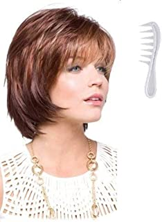SHANNON Wig #2342 by Rene of Paris, Bundle - 2 Items: Wig and Wig Lift Comb! (Color Selected: DARK CHOCOLATE)