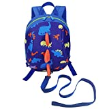 DD Toddler Boys Girls Kids Dinosaur <span class='highlight'>Backpack</span>, Cartoon Safety Anti-Lost Strap Rucksack with <span class='highlight'>Reins</span>
