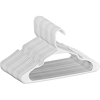 Plastic Hangers - Durable & Slim - by Utopia Home (White, 50)