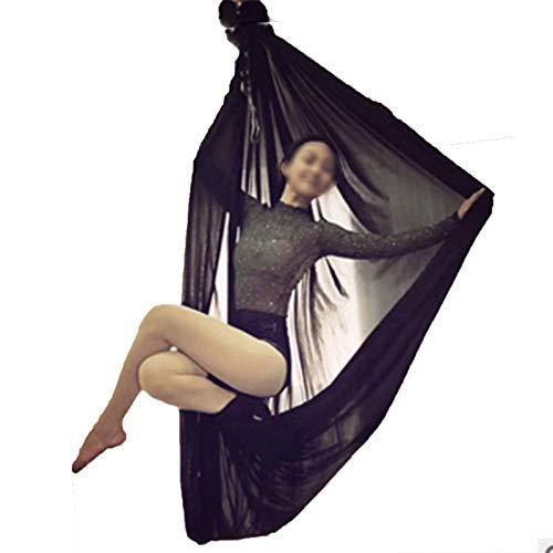 AIJIANG 6 * 2.8M Fly Yoga Hamaca, Columpio Yoga Anti Gravedad Color Sólido Inversión Aérea Columpio Yoga Aire Conjunto Completo Equipo Ejercicio En Casa Hamaca de Yoga aérea (Color : D)