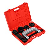 4 IN 1 Ball Joint Removal Kit Tool Set Universal Ball Joint Service Kit 2WD 4WD Vehicles Remover Install Tool with 4-Wheel Drive Adaptors
