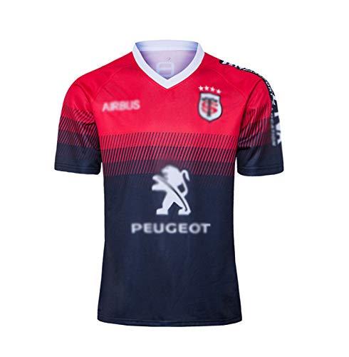 ZeYuKeJi Lässige Sportswear Rugby Trikots, 2020 Toulouse nach Hause und Weg Rugby-Trikots, WM-Herren-Rugby-T-Shirts (Color : Red, Size : Small)