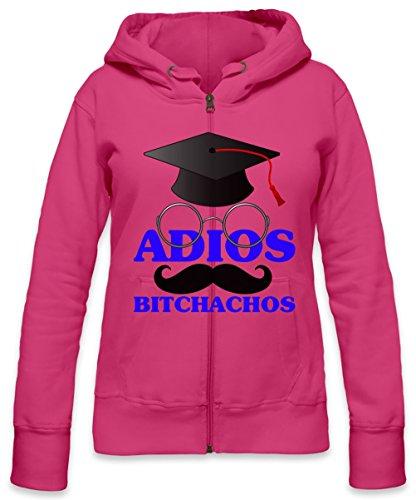 Adios Bitchachos Slogan Womens Zipper Hoodie X-Large
