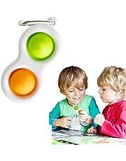 Simple Dimple Toys, Sensorisch babyspeelgoed, siliconen omklapbord voor vroeg educatief speelgoed voor peuters, babytandjes speelgoed voor de leeftijd van 6 maanden en ouder