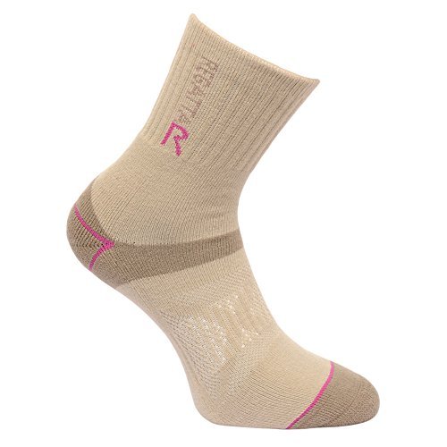Regatta Great Outdoors Damen Wander-Socken (36-38 EU) (Taupe/Viola)