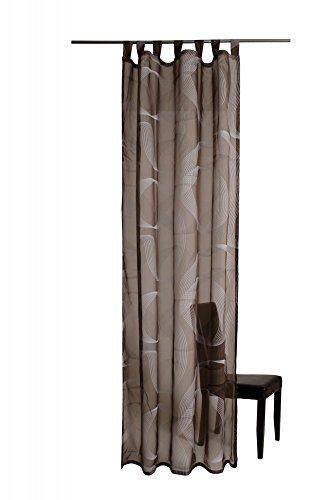 Homing lusgordijn Fineline sjaal gordijn 245 x 140 cm H/B bruin