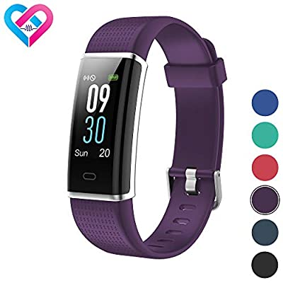 Pro-Fit Fitness Tracker, Activity Tracker with Color Screen, Heart Rate Monitor, 14 Sports Modes & Sleep Monitor, IP67 Waterproof Pedometer Watch, VeryFitPro Smart Wristband, Android & iOS (Purple)