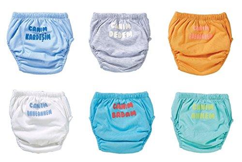 Ozyol Turks teksten 6-pack waterdicht baby leerluier trainingsbroek ondergoed luiers luier broek voor toilettraining potentraining