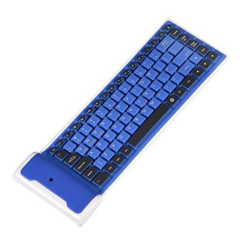 Teclado Bluetooth inalámbrico Plegable de 87 Teclas, Compacto Flexible Teclado de...