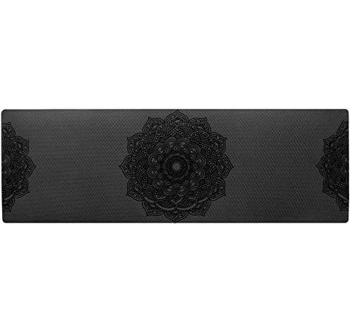 Yumanluo Esterilla Deporte,Esterilla de Yoga Antideslizante Esterilla de Fitness Profesional-Negro,Yoga Mat diseñado para Entrenamiento físico