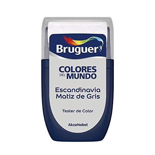Bruguer Tester Colores del Mundo Pintura para paredes monocapa Escandinavia Matiz de Gris, 0.030 litros