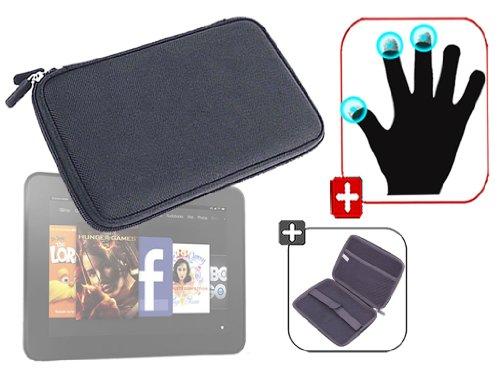 """DURAGADGET Housse étui résistant en EVA Rigide Noir + Gants capacitifs conducteurs Taille L (Large) pour Nouvelle Tablette Kindle Fire 7"""" d'Amazon – G"""