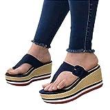 Kaijia Mujeres Sandalias 2021 Tacones Mujer Zapatillas Plataforma Cuñas Zapatos Señoras Verano Diapositivas Hebilla Flip Flops