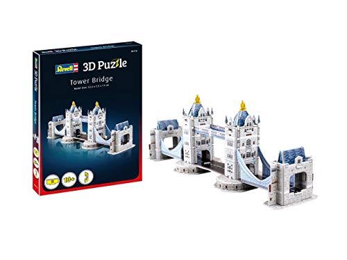 Revell 3D Puzzle 00116 Tower Bridge aus London, eines der bekanntesten Bauwerke Englands, Breite 32,5 cm Die Welt in 3D entdecken, Bastelspass für Jung und Alt, farbig