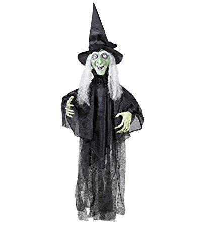 Widmann 01391 - zitternde und sprechende Hexe, mit leuchtenden Augen und beweglichen Armen