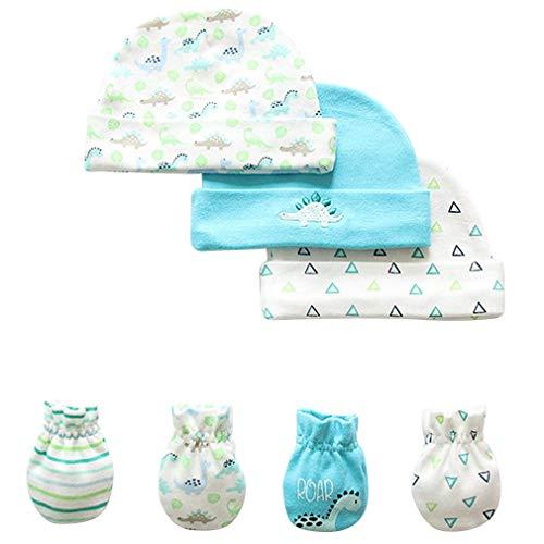 BINIDUCKLING - Gorro de ganchillo para recién nacidos con nudo ajustable, para bebés de 0 a 6 meses