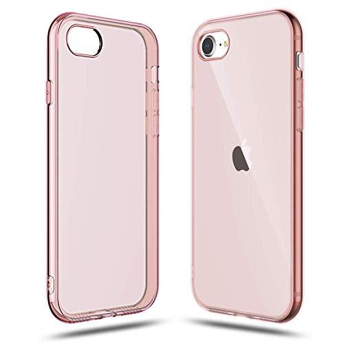 Capa Shamo's para Apple iPhone SE 2020 Capa, iPhone 8 e iPhone 7, absorção de choque, Gel de borracha TPU antiarranhões, Rosa