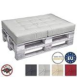 Beautissu ECO Elements Coussins pour Canape Euro Palette - Assise, Banquette - 120x80x15cm - Gris Clair