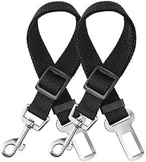 elloLife 2 Cinturón de Seguridad de Coche para Perros, Arnés del Cinturón de Nylon Ajustable Universal para trasportar Mas...
