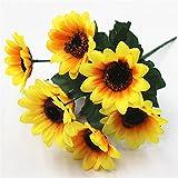 TXXT Flor Artificial Flor Artificial del Girasol, Ramo de Flores Falsos, para la Fiesta de Bodas Decoración de la Oficina del jardín
