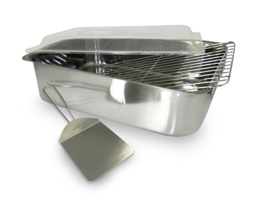 ExcelSteel 4 Piece Stainless Roaster with Cover, Rack and Spatula