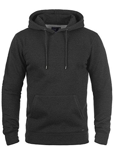 !Solid Bert Herren Kapuzenpullover Hoodie Pullover Mit Kapuze Und Fleece-Innenseite, Größe:L, Farbe:Dark Grey Melange (8288)