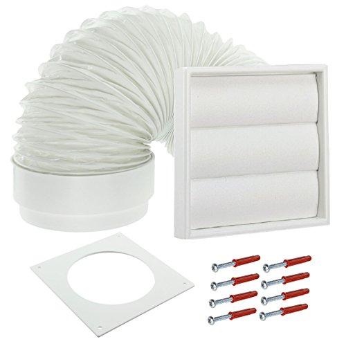 Spares2go Pared Exterior Kit de ventilación para secadora Electrolux (blanco, 10,16cm/102mm)