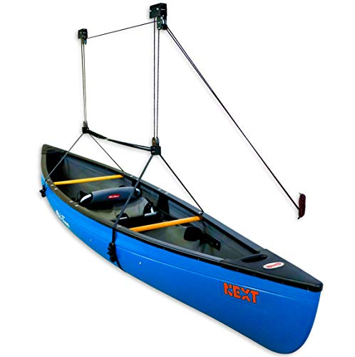 StoreYourBoard Canoe Ceiling Storage Hoist, Hi Lift Home and Garage Pulley Rack, Pro