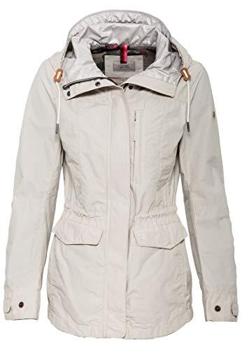 camel active Womenswear Damen Jacke, Weiß (Offwhite 2), (Herstellergröße:38)