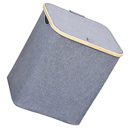 Amosfun Caja de almacenamiento plegable de tela para juguetes, estanterías, ropa, papeles, libros y ropa.