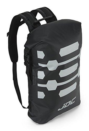 JDC Zaino Da Moto Dry Bag 100% Impermeabile Capacità 30L - Reflector - Nero
