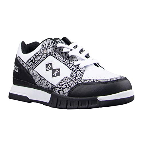 British Knights womens Metros Classic Low Top Fashion Sneaker, Light Grey/Black/White, 7.5 US