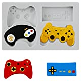 SAKOLLA Game Controller Cake Fondant Mould - Video Gamepad Silicone Mould for Candy, Chocolate, Cupcake Decoration, Resin, Clay