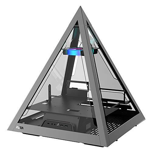 アユート AZZA プラミッド型PCケース ATXサイズ グラフィックボード横置きモデル [ PYRAMID 804 ]