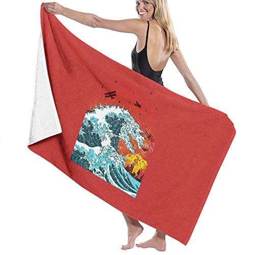 U/K Wavezilla - Toalla de baño (secado rápido)