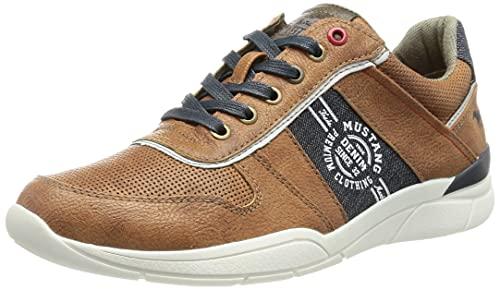 MUSTANG Herren 4138-307-307 Sneaker, cognac, 44 EU