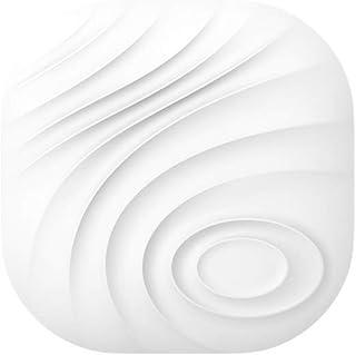 Nutale Nut3 キーファインダー Bluetoothロケーター スマートトラッカー 紛失防止双方向アラームリマインダー Android/iOS電話用 犬 子供用 荷物財布 交換可能バッテリー ホワイト&グレー (1個, ホワイト)
