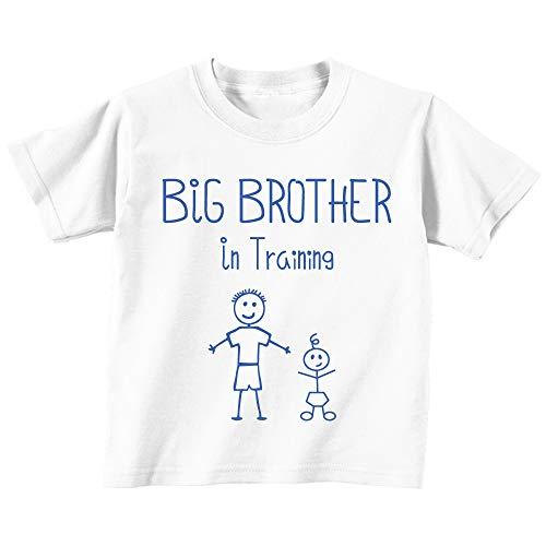 60 Second Makeover Limited Big Brother en Entraînement Blanc T-Shirt Bébé Tout-Petit Enfants Disponible en Tailles de 0-6 Mois pour 14-15 Ans Nouveau bébé Brother Cadeau - Blanc, 24-36 Mois