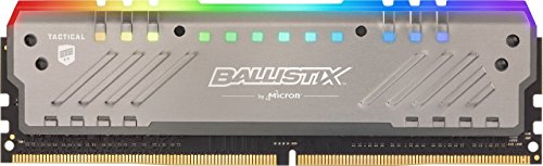 Crucial Ballistix Tactical Tracer RGB 2666 MHz DDR4 DRAM Desktop Gaming Memory Single 16GB CL16 BLT16G4D26BFT4